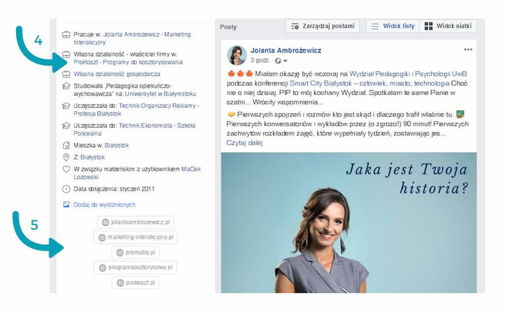 profil prywatny na facebooku opisy