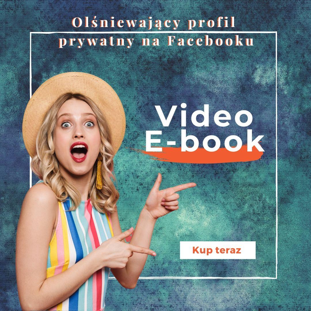 profil prywatny, który sprzedaje video e-book