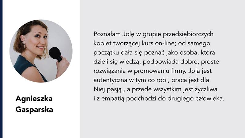 Agnieszka gasparska opinia jolanta ambrożewicz