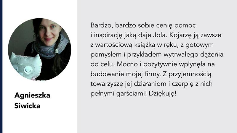 Jola Ambrożewicz rekomendacja Agnieszka Siwicka