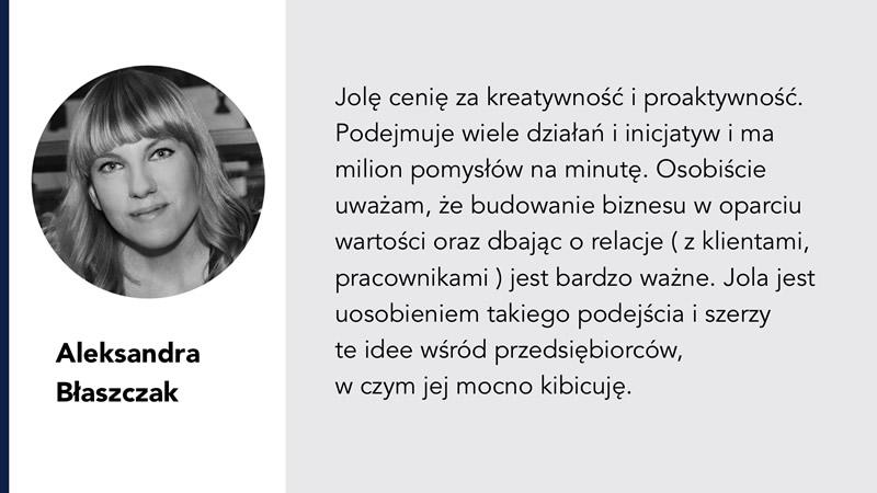 Aleksandra Błaszczak rekomendacja