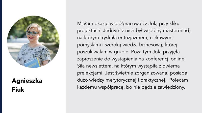 Agnieszka Fiuk i Jolanta Ambrożewicz rekomednacja
