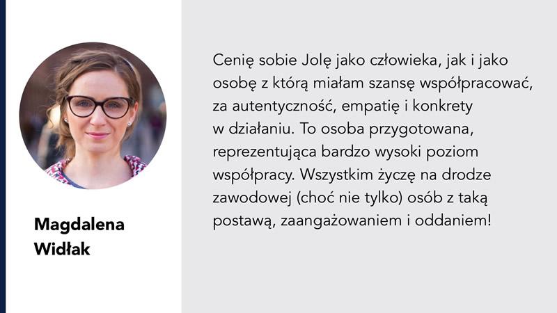 Jolanta Ambrożewicz rekomedndacje od Magdalena Widłak-Langer
