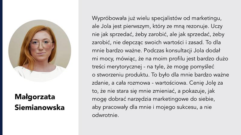 Małgorzata Siemianowska Jolanta Ambrożewicz opinia